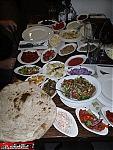 salads and kebobs