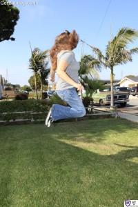 Tanya jumping